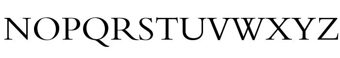 BergamoStd-Regular Font UPPERCASE