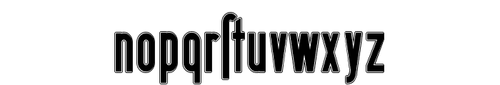 Berlin Email Outline Font LOWERCASE