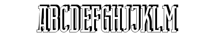 Berlin Email Serif Shadow Font UPPERCASE