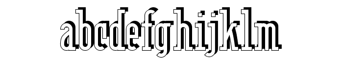 Berlin Email Serif Shadow Font LOWERCASE