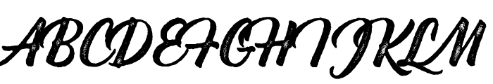 Bernadette Rough Font UPPERCASE
