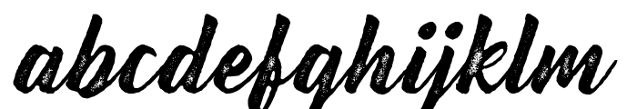 Bernadette Rough Font LOWERCASE