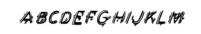 Berserker Condensed Italic Font LOWERCASE