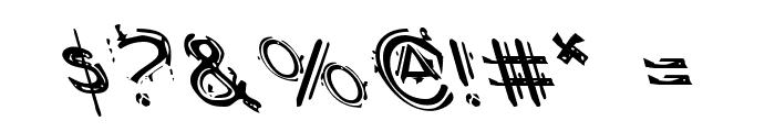 Berserker Leftalic Font OTHER CHARS