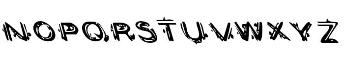 Berserker Leftalic Font LOWERCASE