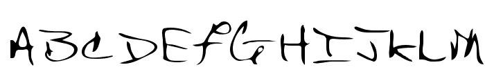 Bert Regular Font UPPERCASE