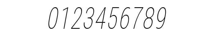 Bert Sans Thin Italic Font OTHER CHARS