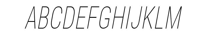 Bert Sans Thin Italic Font UPPERCASE