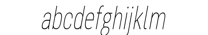 Bert Sans Thin Italic Font LOWERCASE