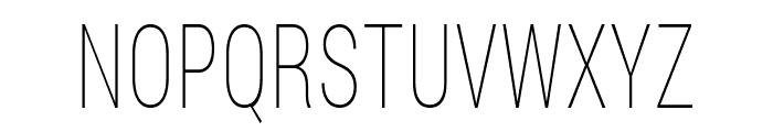 Bert Sans Thin Font UPPERCASE