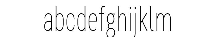 Bert Sans Thin Font LOWERCASE