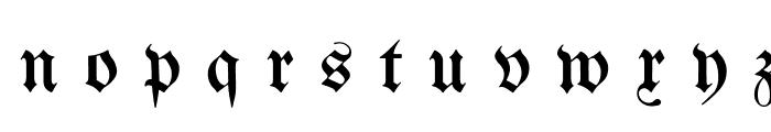 Berthold  Mainzer Fraktur UNZ1A Italic Font LOWERCASE