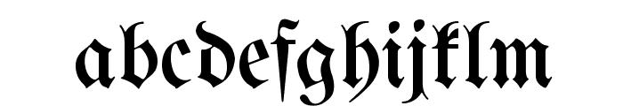 Berthold  Mainzer Fraktur UNZ1A Font LOWERCASE