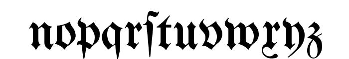 Bertholdr Mainzer Fraktur Font LOWERCASE