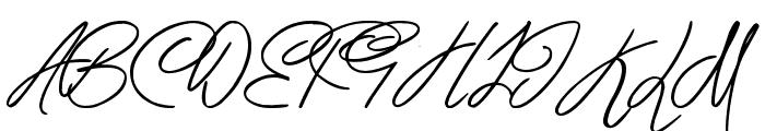 Berty Script Font UPPERCASE