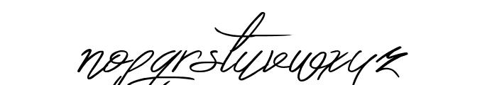 Berty Script Font LOWERCASE