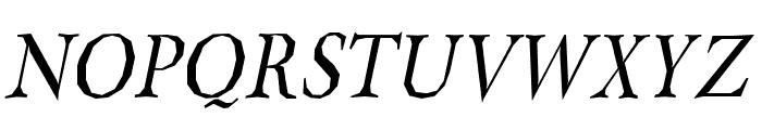 Berylium-Italic Font UPPERCASE