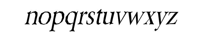Berylium-Italic Font LOWERCASE
