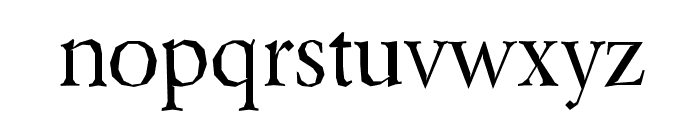 Berylium-Regular Font LOWERCASE