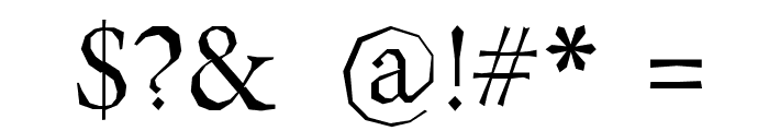Berylium Font OTHER CHARS
