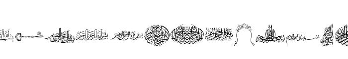 Besmellah 2 Font UPPERCASE