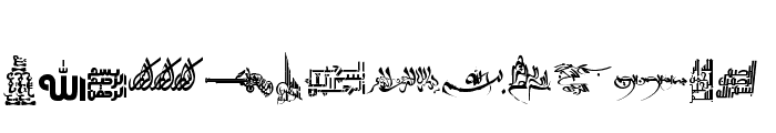 Besmellah 4  Font LOWERCASE