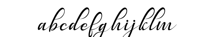 Bestalia PU Font LOWERCASE