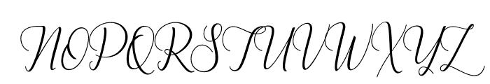BestillaScript-Regular Font UPPERCASE