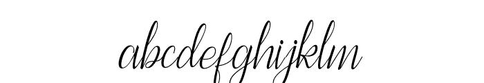 BestillaScript-Regular Font LOWERCASE
