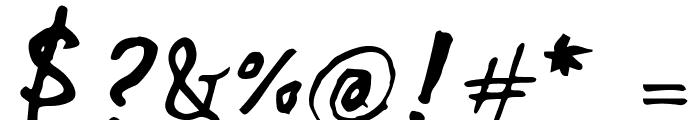 Beth Ellen Regular Font OTHER CHARS