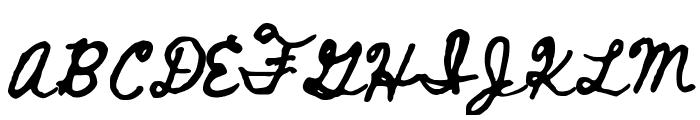 Beth Ellen Regular Font UPPERCASE