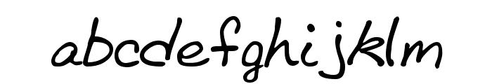 BethHand Font LOWERCASE
