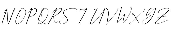 Bethany Script Font UPPERCASE