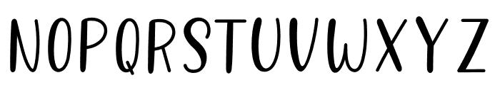 Better Caramel Sans Bold Font LOWERCASE