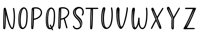 Better Caramel Sans Hollow Font UPPERCASE
