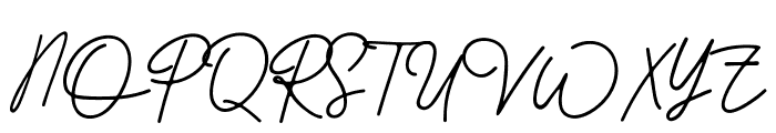 Better Signature Font UPPERCASE