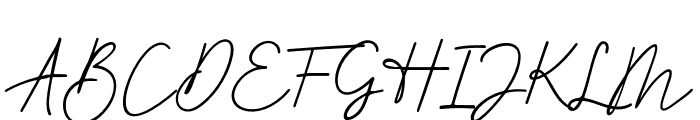 BetterSignature Font UPPERCASE