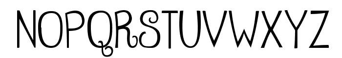 Betty Regular Font UPPERCASE