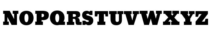 Bevan Regular Font UPPERCASE