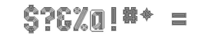 Bevel'sAdvocateMono Regular Font OTHER CHARS