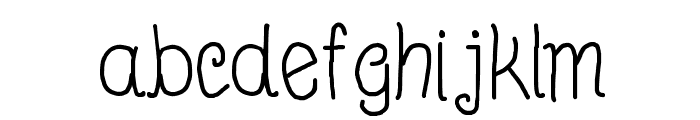 Beyond Blackboard Font LOWERCASE