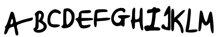 beccasfont Font UPPERCASE