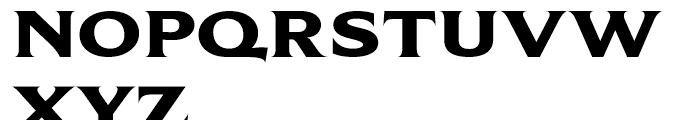 Beaufort Extended Heavy Font UPPERCASE