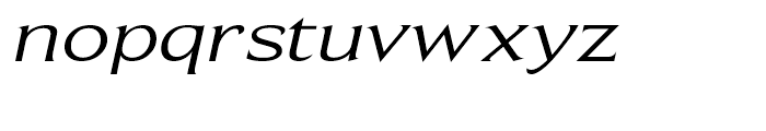 Beaufort Extended Italic Font LOWERCASE