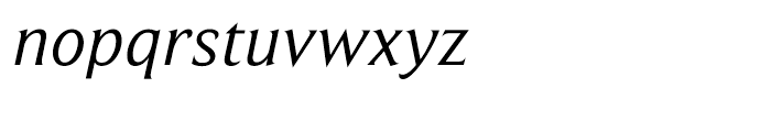 Beaufort Italic Font LOWERCASE