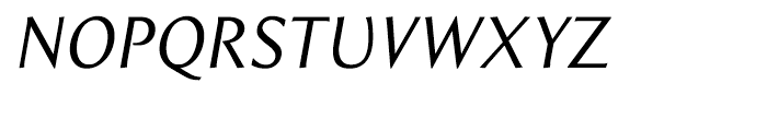 Beaulieu Regular Italic Font UPPERCASE