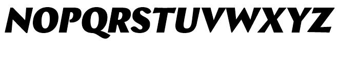 Bebop Black Italic Font UPPERCASE