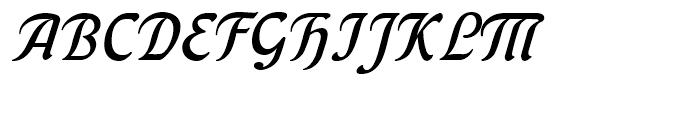 Behrens Kursiv Regular Font UPPERCASE