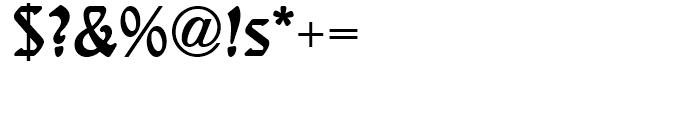 Behrens Schrift Regular Font OTHER CHARS