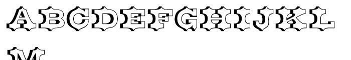 Belgian Open Font UPPERCASE